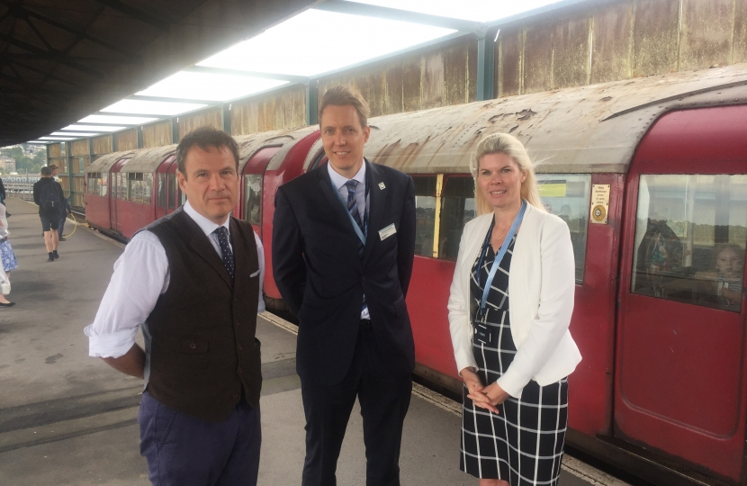 Bob meeting with Joost Noordewier and Emma Wiles from South Western Railway