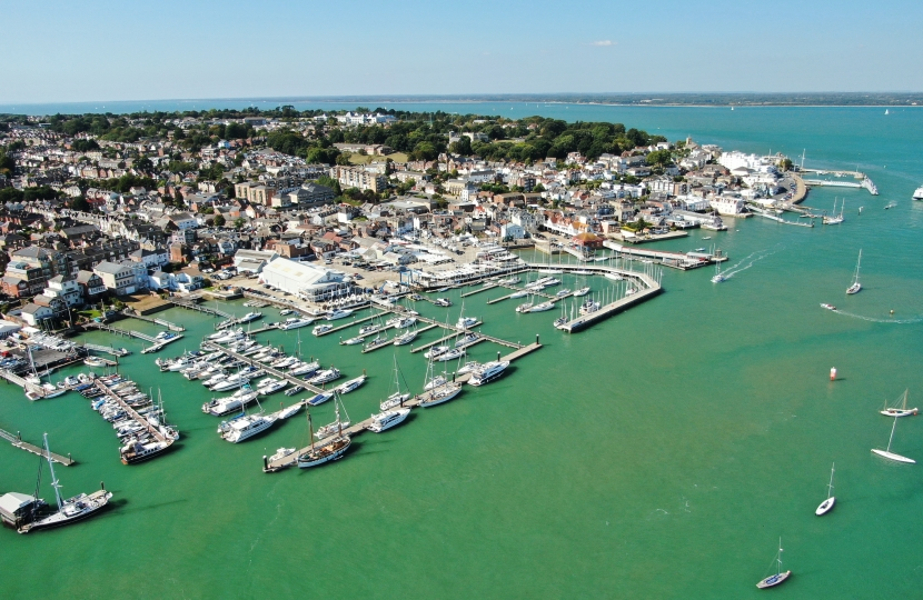 Picture courtesy of Cowes Harbour Commission